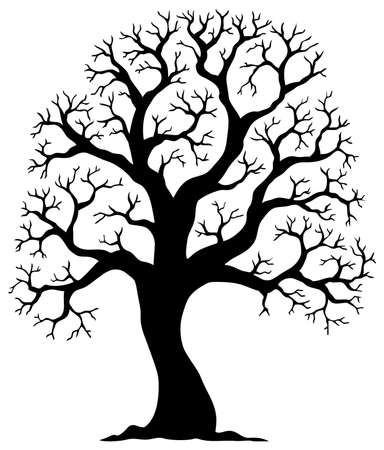 shaped: Tree shaped silhouette 2 - vector illustration. Illustration