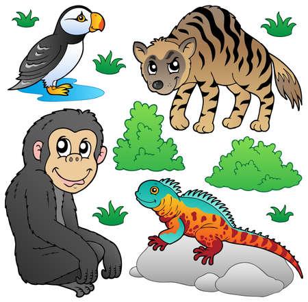 biodiversity: Zoo animals set 2 - vector illustration.