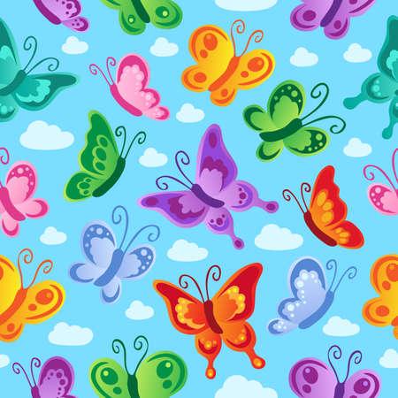 dessin papillon: Papillon de fond sans soudure 2 - illustration vectorielle.