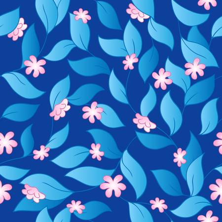 Flowery seamless background 3 - vector illustration. Vector