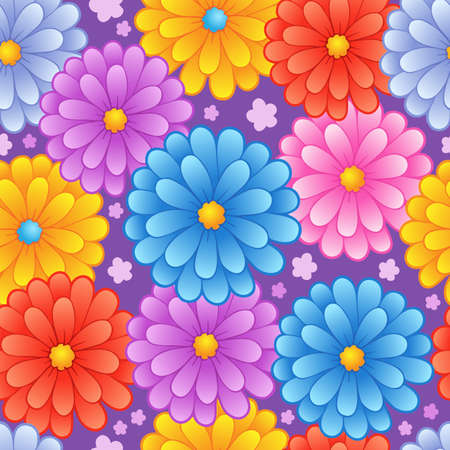 Flowery seamless background 4 - vector illustration. Stock Vector - 12165850