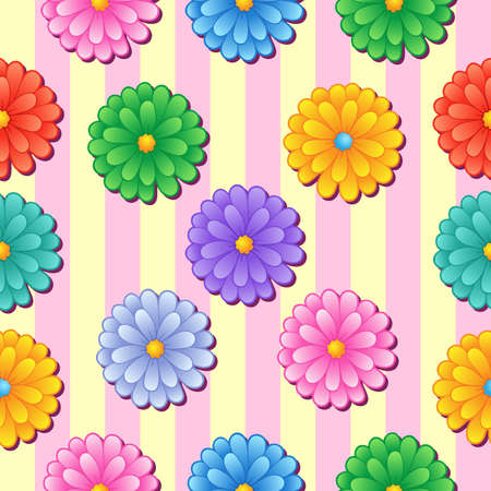 Flowery seamless background 5 - vector illustration.