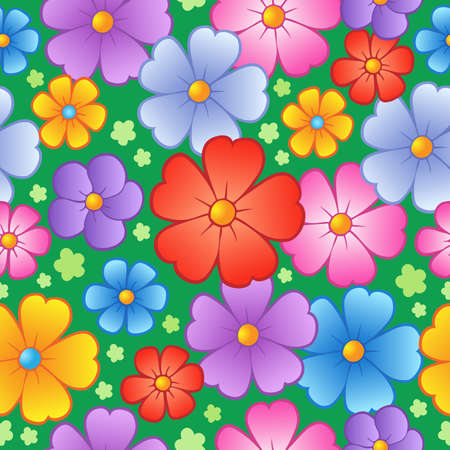 Flowery seamless background 6 - vector illustration. 向量圖像