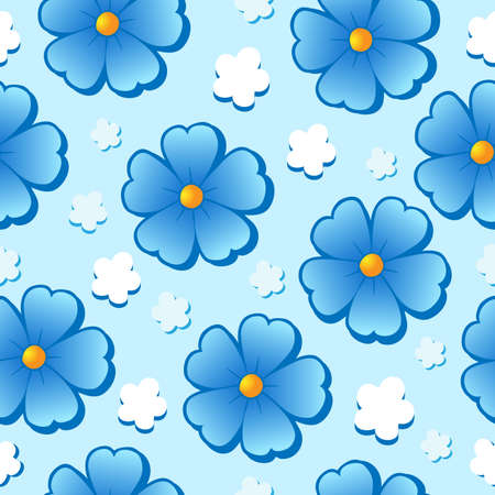Flowery seamless background 7 - vector illustration. Vector