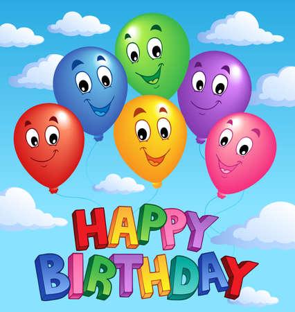 Feliz Cumpleaños de la imagen Tema 3 - ilustración vectorial. Ilustración de vector