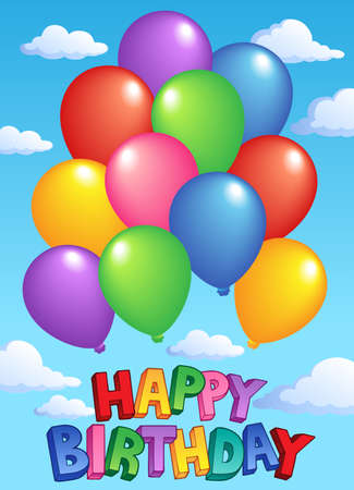 flying float: Happy Birthday topic image 4 - vector illustration.