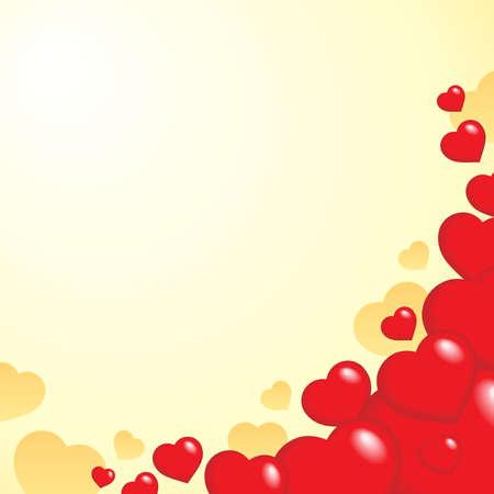 Heart theme background 1 - vector illustration. Vector