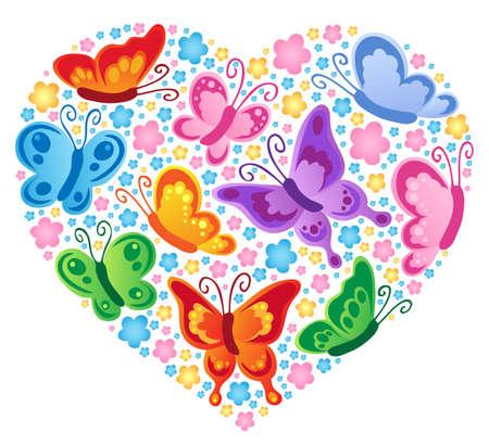 Heart theme image 4 - vector illustration.