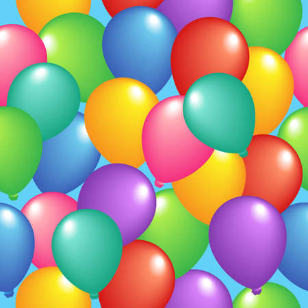 Seamless background with balloons 1 - vector illustration. Vector