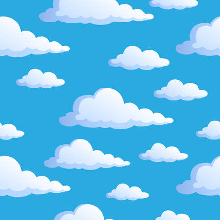 clouds in sky: Seamless background with clouds 1 - vector illustration.