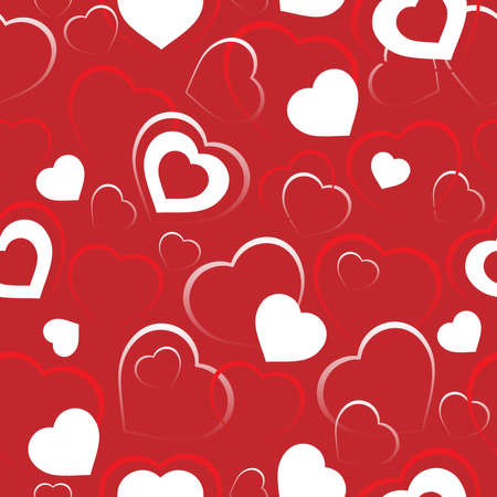 Seamless background with hearts 5 - vector illustration. Vector