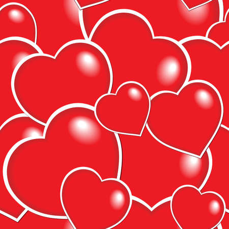 Seamless background with hearts 6 - vector illustration. Stock Vector - 12165837