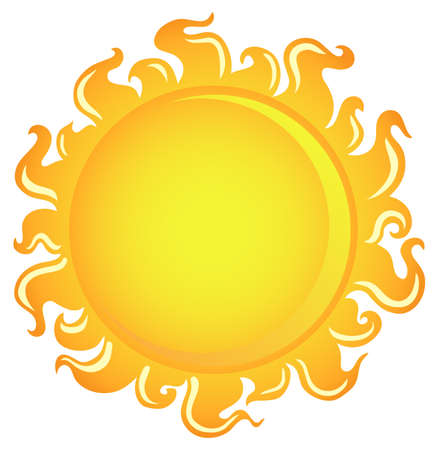 Sun theme image 1 - vector illustration. Vector