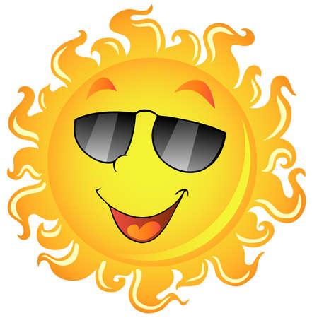 sol caricatura: Imagen de Sun tema 2 - ilustración vectorial. Vectores