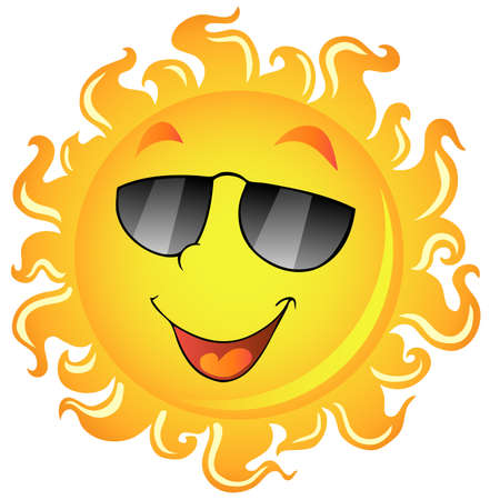 shades: Sun theme image 2 - vector illustration. Illustration