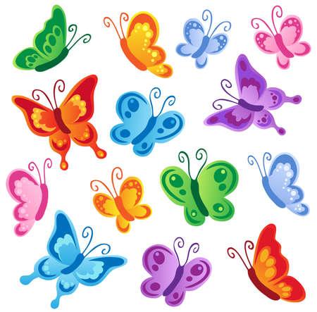 papillon dessin: Divers collection de papillons 1 - illustration vectorielle.