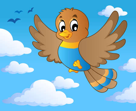 Bird theme image 1 - vector illustration. Vector