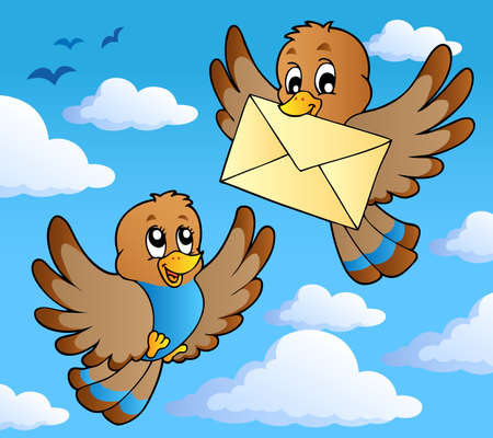 Bird theme image 2 - vector illustration. Vector