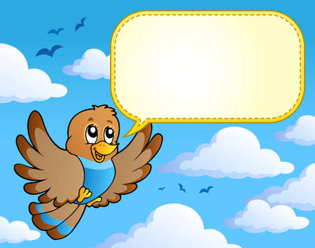 Bird theme image 4 - vector illustration. Vector