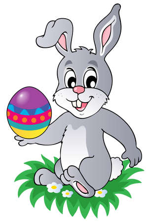 Easter bunny theme image 1 - vector illustration. Ilustracja
