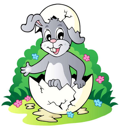 Easter bunny theme image 2 - vector illustration. Vector