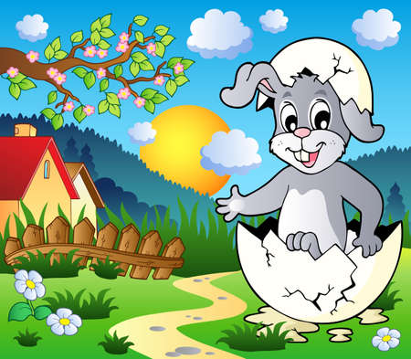 Easter bunny theme image 3 - vector illustration. Stock Vector - 12482822