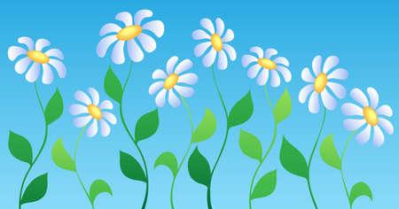 flowerbed: Flower theme image 2 - vector illustration.
