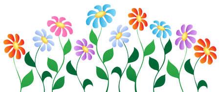 flowerbed: Flower theme image 3 - vector illustration. Illustration