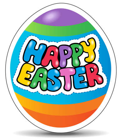 easter sign: Happy Easter sign theme image 1 - vector illustration.