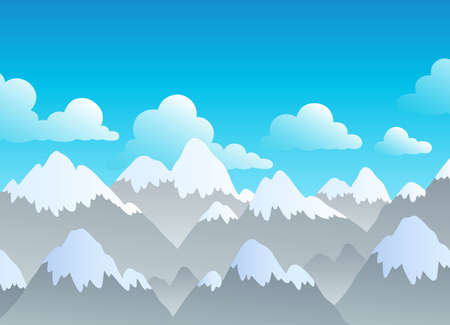 Mountain theme landscape 3 - vector illustration. Vector