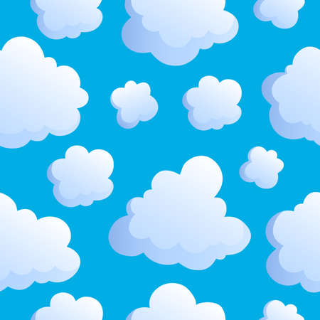 Seamless background with clouds 2 - vector illustration.