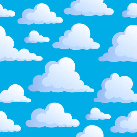 windy day: Seamless background with clouds 3 - vector illustration.