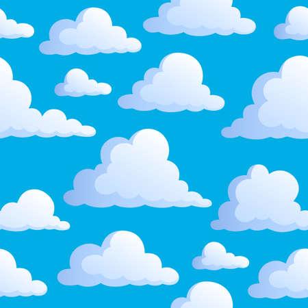 aerate: Seamless sfondo con nuvole 3 - illustrazione vettoriale.