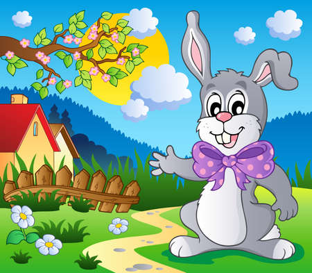 Easter bunny theme image 5 - vector illustration