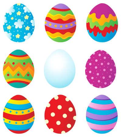 huevo caricatura: Los huevos de Pascua colección 1 - ilustración vectorial Vectores