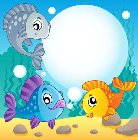 underwater fishes: Fish theme image 2 - vector illustration