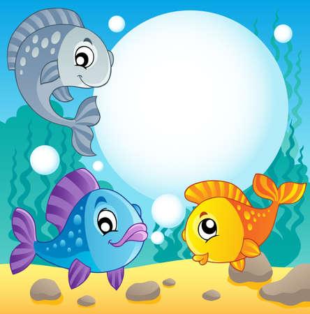 saltwater fish: Tema 2 Fish immagine - illustrazione vettoriale Vettoriali
