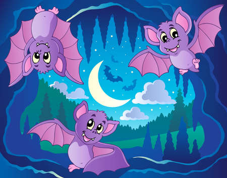 Bats theme image 2 - vector illustration Stock Vector - 13057408