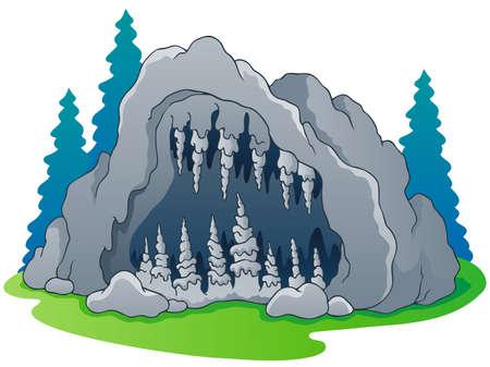 Cueva de la imagen el tema 1 - ilustración vectorial