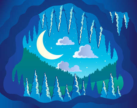 hideout: Cave theme image 3 - vector illustration