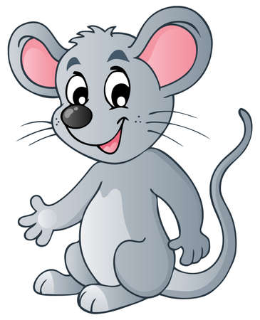 furry animal: Rat�n de dibujos animados lindo - ilustraci�n vectorial