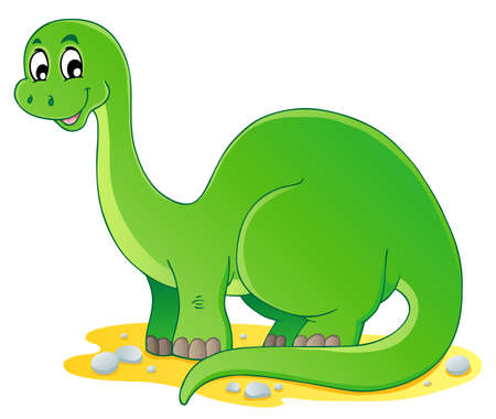 herbivorous: Dinosaur theme image 1 - vector illustration  Illustration