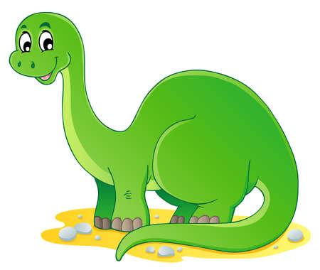 dinosaurio caricatura: Dinosaurio de la imagen el tema 1 - ilustración vectorial