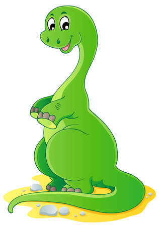 Dinosaur theme image 2 - vector illustration  Vector
