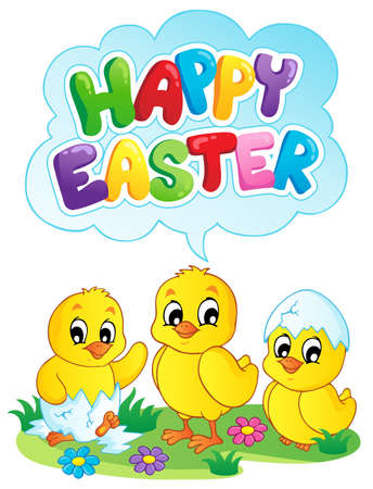 fowls: Happy Easter sign theme image 5 - vector illustration