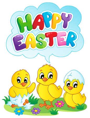 buona pasqua: Happy Easter tema dell'immagine segno 5 - illustrazione vettoriale