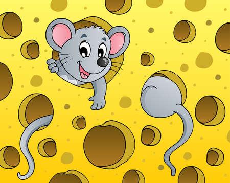 ratte cartoon: Maus-Thema Bild 1 - Vektor-Illustration Illustration