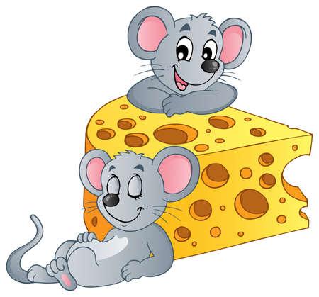 Mouse theme image 2 - vector illustration  Illustration