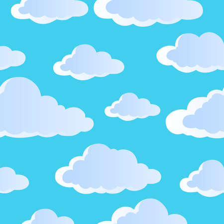 Seamless background with clouds 4 - vector illustration  Vector