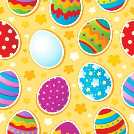 Seamless Easter topic background - vector illustration  Vector